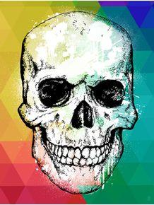 quadro-caveira-brush-color