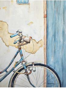 quadro-bicicleta-antiga-aquarela
