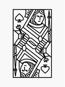 quadro-dama-de-espadas
