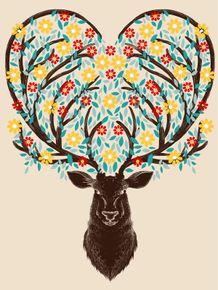 quadro-blooming-deer