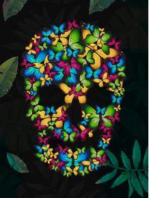 quadro-tropical-skull