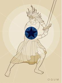 quadro-ogum-guerreiro