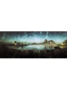 quadro-rio-botafogo-panoramica-vintage