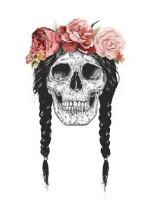 quadro-skull-with-floral-crown