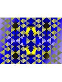 quadro-azul-dourado