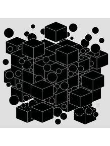 quadro-cubos-e-bolas-cinza