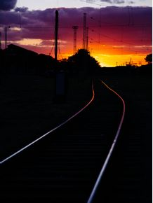 quadro-railway-sunset
