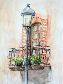 quadro-janela-e-luminaria-aquarela