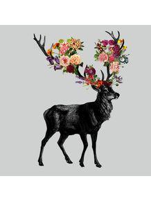 quadro-spring-itself-deer-floral