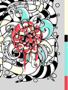 quadro-flor-grafite