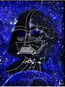 quadro-darth-vader-in-galaxy
