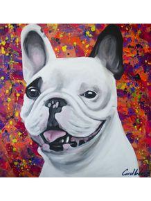 quadro-bulldog-frances-vermelho