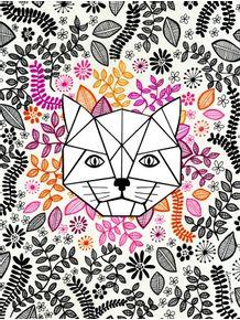 quadro-gato-floral