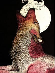 quadro-o-lobo-e-a-lua