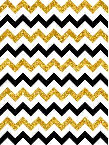 quadro-chevron-black-and-gold