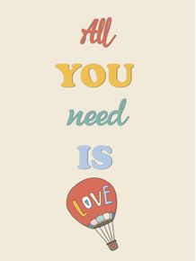 quadro-all-you-need-is-love--baloon-amor