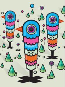 quadro-mundo-estranho-doodles