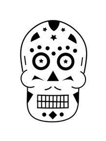 quadro-black-skull