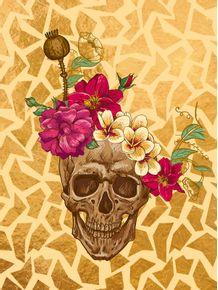 quadro-skull-and-flower