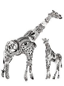 quadro-girafas-maori