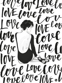 quadro-bailarina-love