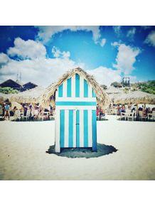 quadro-casa-de-praia-azul