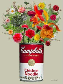 quadro-campbells-florido-cinza