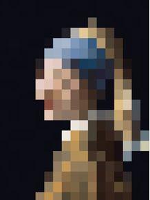 quadro-garota-brinco-perola-mosaico
