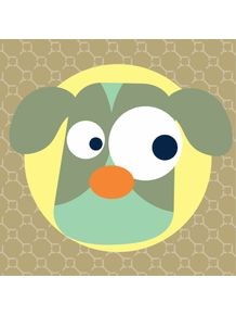 quadro-cachorrinho-verde