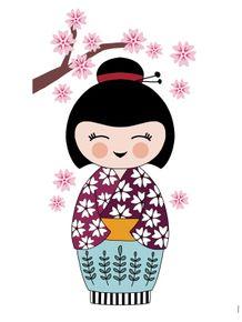 quadro-kokeshi-boneca