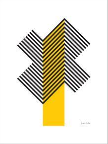 quadro-geometrico-amarelo
