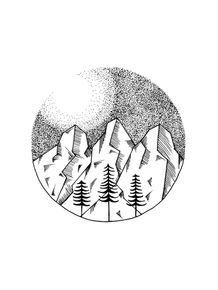 quadro-dotwork-mountains