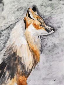 quadro-retrato-de-uma-raposa