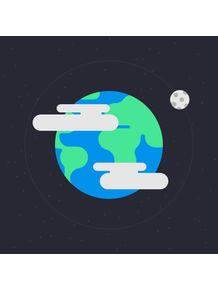 quadro-planeta-terra-flat