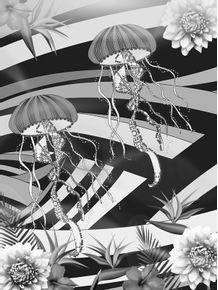 quadro-mar-florido-ii