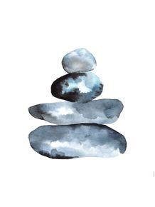 quadro-pedras-aquarela-quadrado