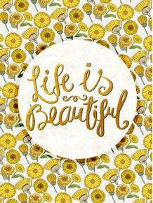 quadro-life-is-beautiful-florals