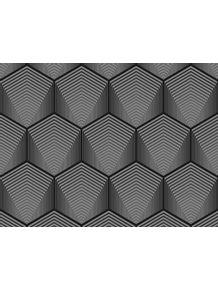 quadro-favo-cinza-de-uma-colmeia-hexagonal