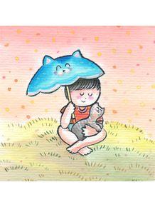 quadro-gatinho-na-chuva