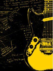 quadro-guitarra-mustang--kurt-cobain-nirvana