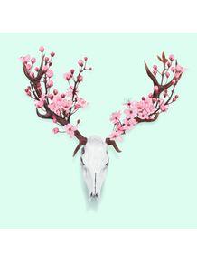 quadro-cherry-blossom-skull