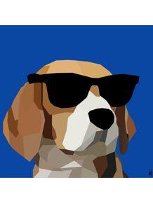quadro-beagle-glass
