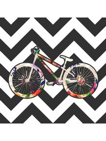 quadro-bike-floral-chevron