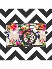 quadro-camera-floral-chevron