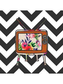 quadro-tv-floral-chevron