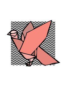 quadro-passaro-origami