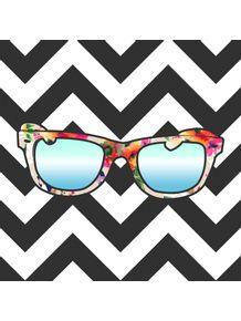 quadro-oculos-floral-chevron