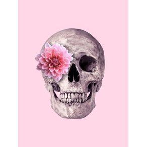 quadro-pink-flower-skull