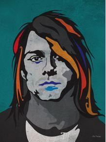 quadro-serie-rockstars-allstars-kurt-cobain
