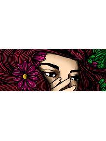 quadro-garota-das-folhas